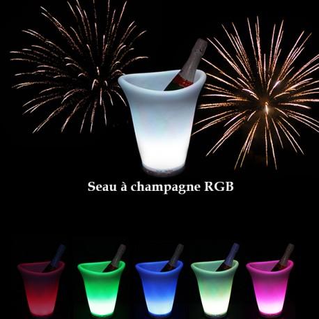 Seau à Champagne RGB à LED (multi couleurs)