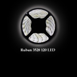 Ruban LED 3528 / 120 LED mètre blanc froid pour intérieur (IP65) longueur 5 mètres