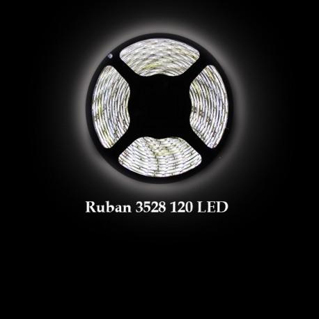 Ruban LED 3528 / 120 LED mètre blanc froid pour intérieur (IP65)
