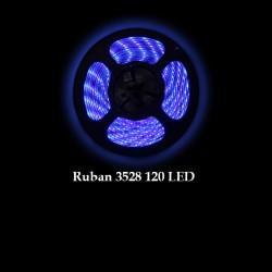 Ruban LED 3528 / 120 LED mètre bleu pour intérieur (IP65) longueur 5 mètres