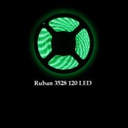 Ruban LED 3528 / 120 LED mètre vert pour intérieur (IP65)