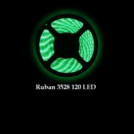 Ruban LED 3528 / 120 LED mètre vert pour intérieur (IP65) longueur 5 mètres
