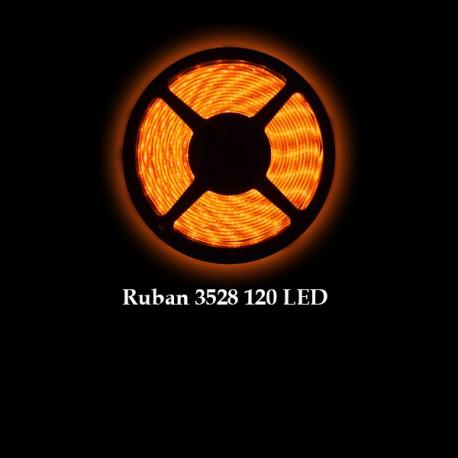 Ruban LED 3528 / 120 LED mètre or pour intérieur (IP65) longueur 5 mètres