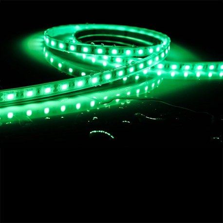 Ruban LED 5050 / 60 LED mètre vert étanche (IP68) longueur 5 mètres