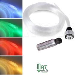 Fibre optique ciel étoilé RGB (multi couleurs) 200 fibres en 0.75 mm 2 mètres