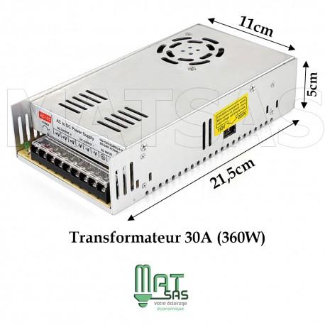 Alimentation métal box ventilé 12 V 30A