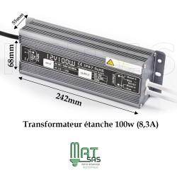 Transformateur étanche 12V 100 Watt