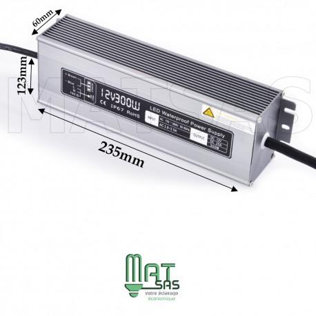 Transformateur étanche 12V/300 Watt