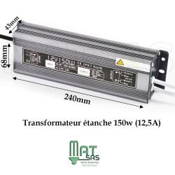 Transformateur étanche 12V 150 Watt