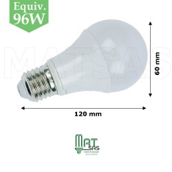 Ampoule LED 12W  E27  (gros culot) blanc neutre