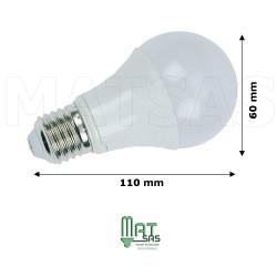 Ampoule LED 9W  E27  (grosse vis) Blanc neutre