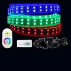 Ruban LED 5050 / 120 RGB (multi couleur) IP68 étanche longueur 5 mètres