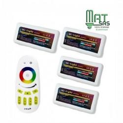 Kit de 4 controleurs Multi -zone RGB avec sa Télécommande Radio