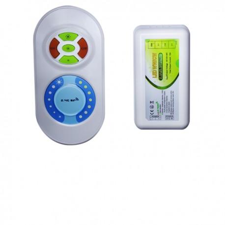 Contrôleur Télécommande radio pour ruban LED différente graduation de blanc 5050