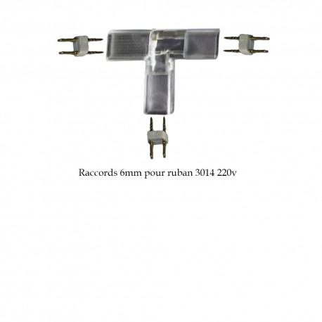 Adaptateur d'angle en T 6mm pour ruban LED 3014 (25 ou 50 mètres)