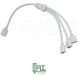 Connecteur pour raccorder 3 Rubans LED pour 5050 RGB et 3528 RGB