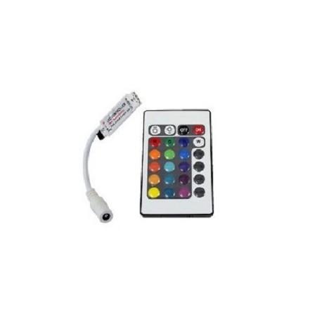 Mini controleur extra plat avec télécommande infrarouge pour RGB 5050 ou 3528