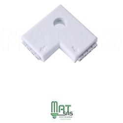 Raccord L pouvant connecter 2 rubans LED RGB entre eux 5050 ou 3528