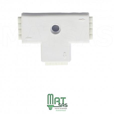 Raccord T pouvant connecter 2 rubans LED RGB entre eux 5050 ou 3528