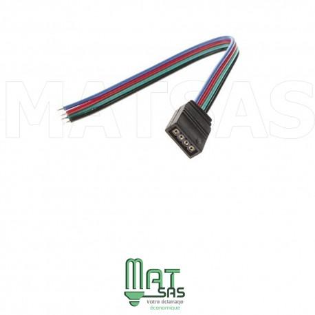 Cable avec connecteur femelle pour 5050 RGB