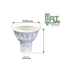 Ampoule LED GU10 COB 5.5 Watts Professionnelle
