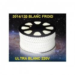 Strip LED EPISTAR 3014/120 en 25 ou 50 mètres ultra blanc Froid étanche (IP68)