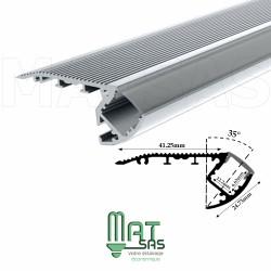 Profilé aluminum 1 mètre spécial marche