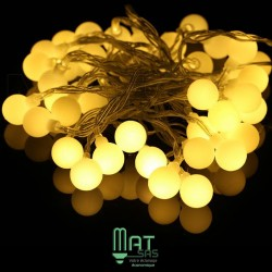 Guirlande LED 10 mètres blanc chaud
