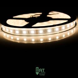 Ruban LED 5050 / 60 LED mètre blanc chaud étanche (IP68)