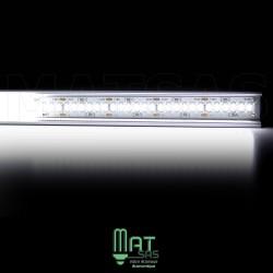 Kit ruban LED 3014/244 blanc froid 30w mètre avec profilé aluminium et alimentation métal box longueur 5 mètres