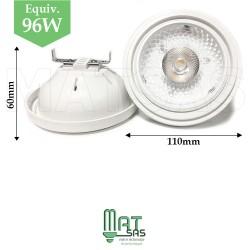 Ampoule LED E27 15W  AR111 blanc neutre