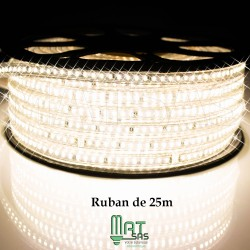 Strip LED EPISTAR 2835/120 25 ou 50 mètres super puissant blanc chaud étanche (IP68)