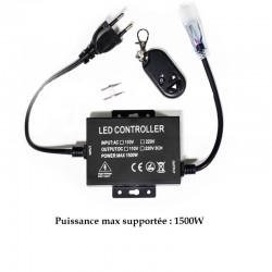 Variateur Pro 8mm de 1500W pour strip LED 220V mono couleur
