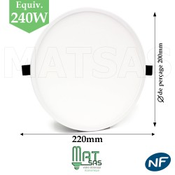 Downlight LED 30W extrat plat
