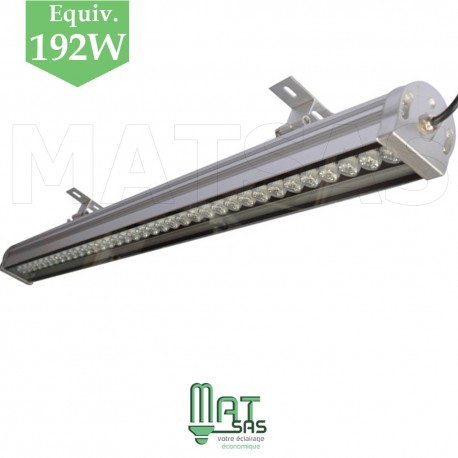 Wallwasher LED blanc froid 24W de 1 mètre