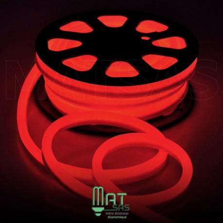 Strip LED néon flexible  Professionnel EPISTAR 2835 120 LED/m de 50 mètres rouge étanche (IP68)