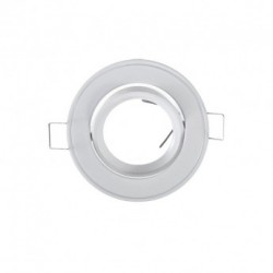 Support Rond orientable blanc