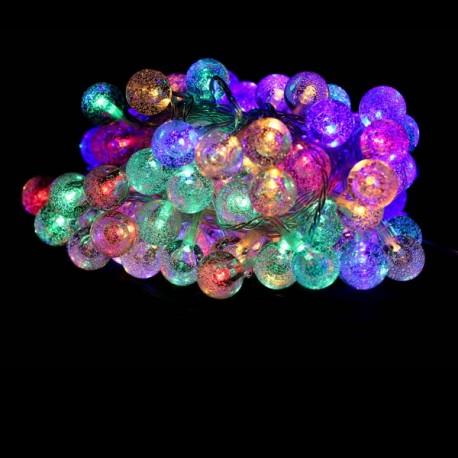 Guirlande LED 10 mètres RGB (multi color) effet cristal 100 boules