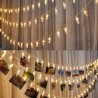 Guirlande LED avec 40 pinces à linges transparentes blanc chaud de 5 mètres (à piles)
