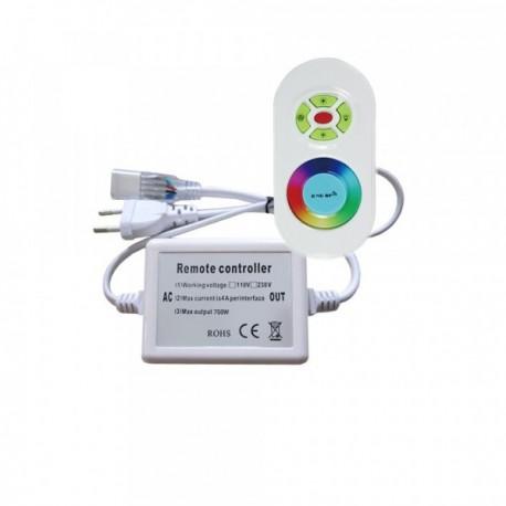 Controleur pour néon flexible RGB 220V avec télécommande radio