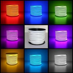 Kit néon flexible LED 2835 / 120 Leds par métre Professionnel 25 ou 50 Mètres RGB Étanche (IP68) avec Controleur 220V