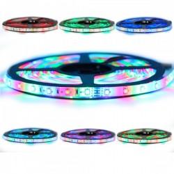 Ruban LED 3528 / 60 RGB (multi couleur) longueur 5 mètres