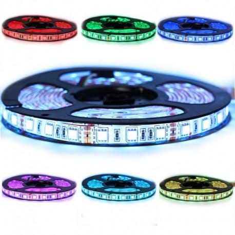 Ruban LED 5050 / 60 RGB (multi couleur) IP65 longueur 5 mètres