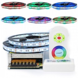 Kit ruban LED 5050 / 60 RGB (multi couleur) IP65 longueur 10 ou 15 mètres