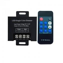 Variateur 20A  avec télécommande radio pour ruban LED monocouleur