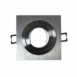 Support GU10 ou MR16 carré aluminium 92x92 mm