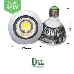 Ampoule LED E27 12W  PAR30 blanc neutre (gros culot)