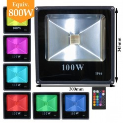 Projecteur LED RGB (multi couleurs) 100W