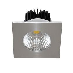 Spot encastrer carré brosser mono  6W 700Lm blanc neutre 4000K IP65
