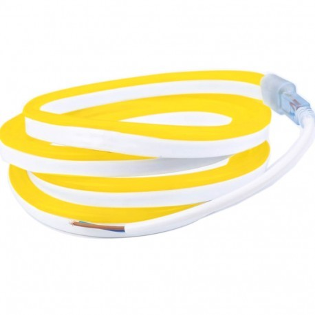 Néon flexible LED Pro 12V EPISTAR 2835 120 LED/m de 5 mètres Jaune or étanche (IP67)